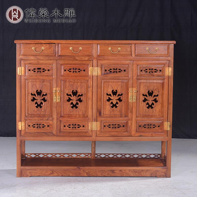 伟荣中式实木大鞋柜x06