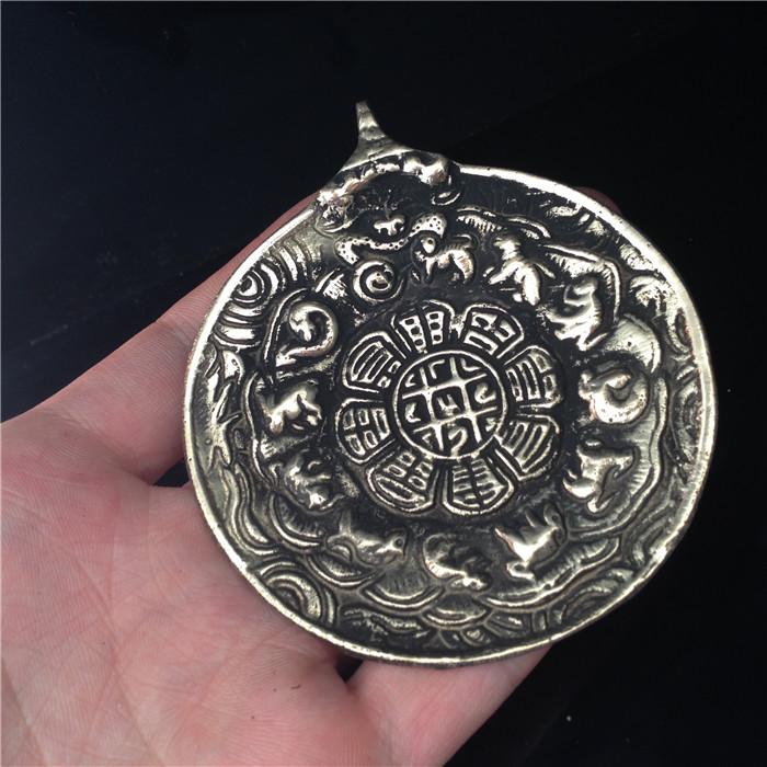 Тибетский сувенир из бронзы 74 мм Латунь большой Императорский дворец сплетни фирменной символики блока катастрофы в Тибете подвески