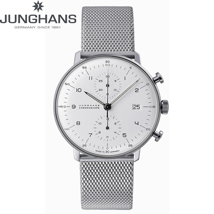 德国JUNGHANS荣汉斯马贝系列计时表男表机械手表钢带027/4003.44