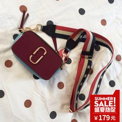 维维米明星同款包包女SNAPSHOT拼色相机包单肩斜挎小方包