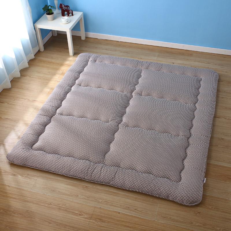 桑贡世家多色加厚榻榻米床垫床垫蓝格2*2.2