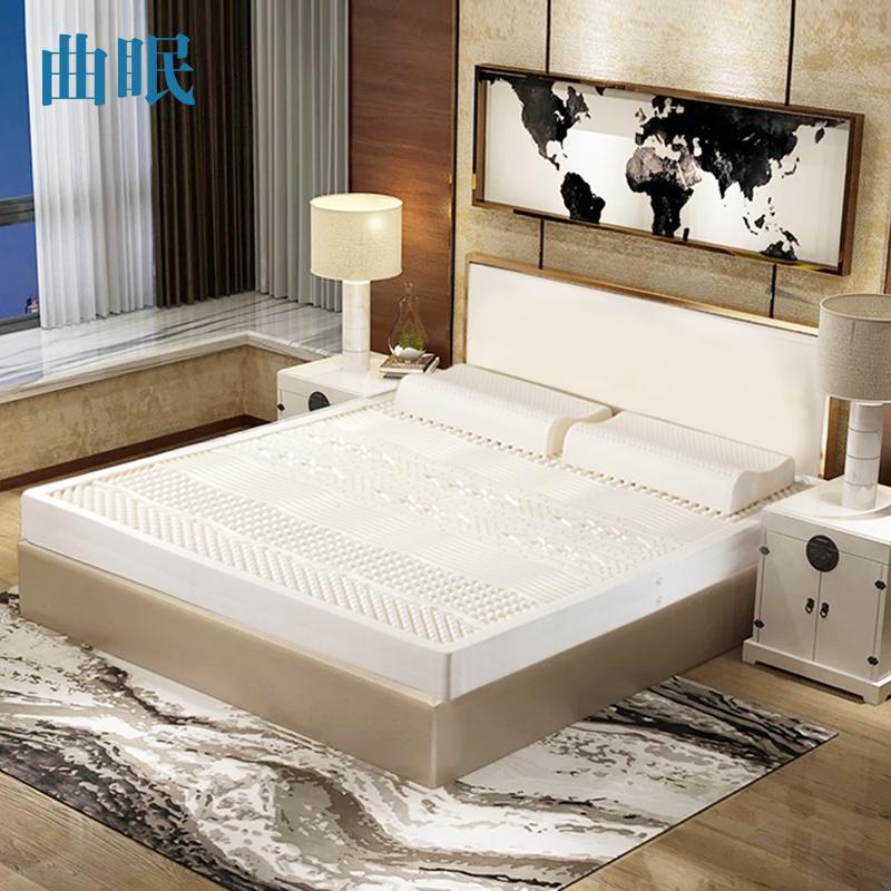 曲眠泰国乳胶床垫七区花型5cm