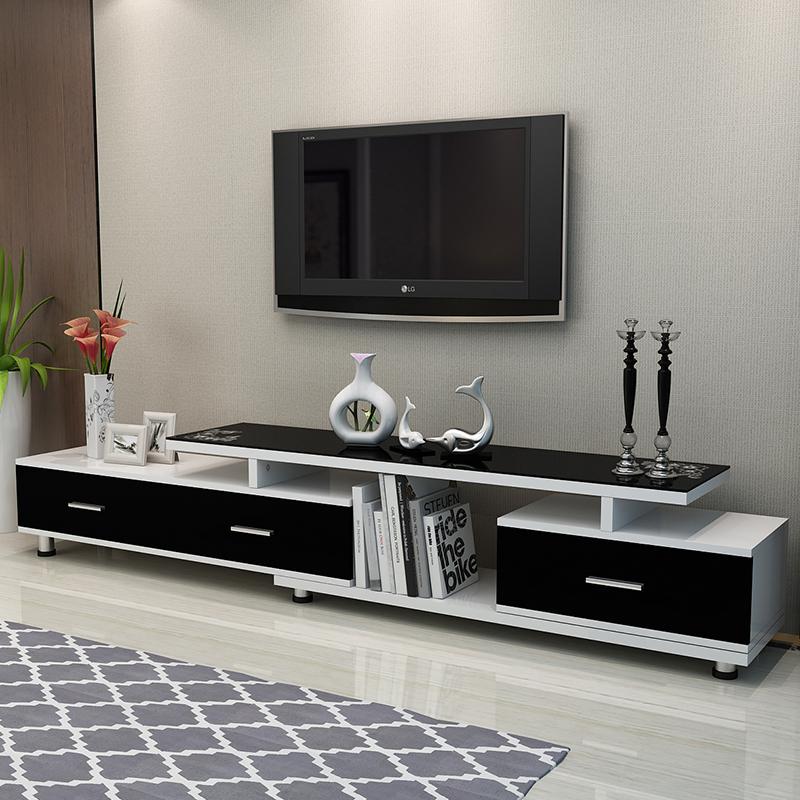 鑫愿简约现代钢化玻璃电视机柜XY853