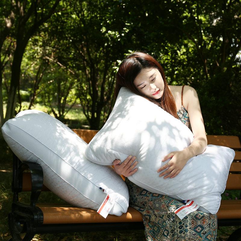 浪漫花语全棉绗缝酒店风立体护颈枕T1327010