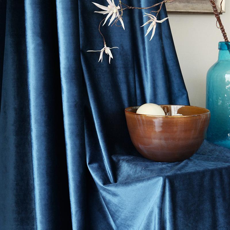 吉屋大气纯色丝绒窗帘JW22H0185