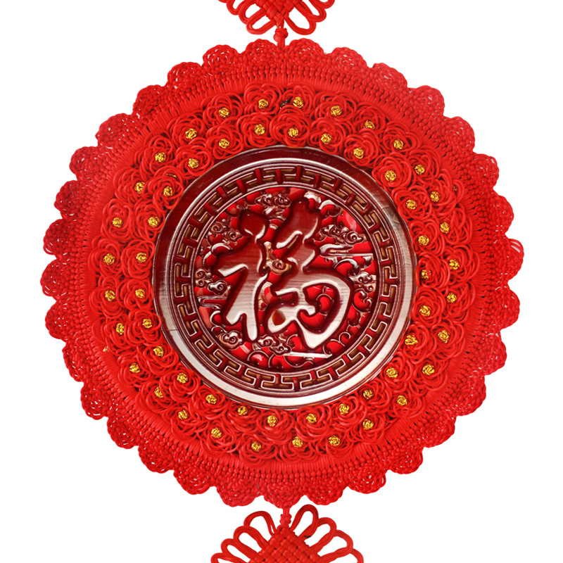 中国结挂件大号福字挂饰客厅桃木中国节结婚春节新年喜庆装饰挂饰