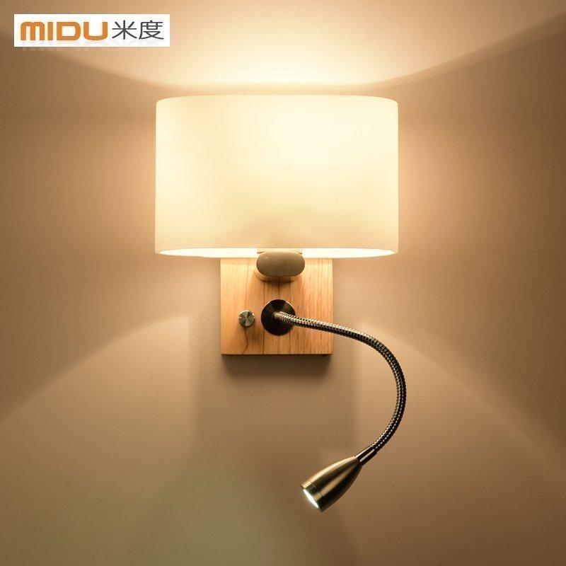 米度北欧现代简约木艺墙壁灯 MD06222