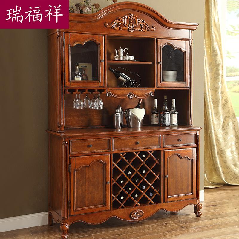 瑞福祥美式餐边柜实木储物柜ad201