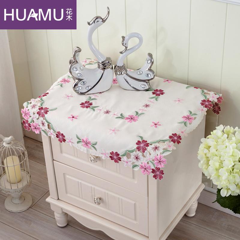 花木日式绣花床头柜罩
