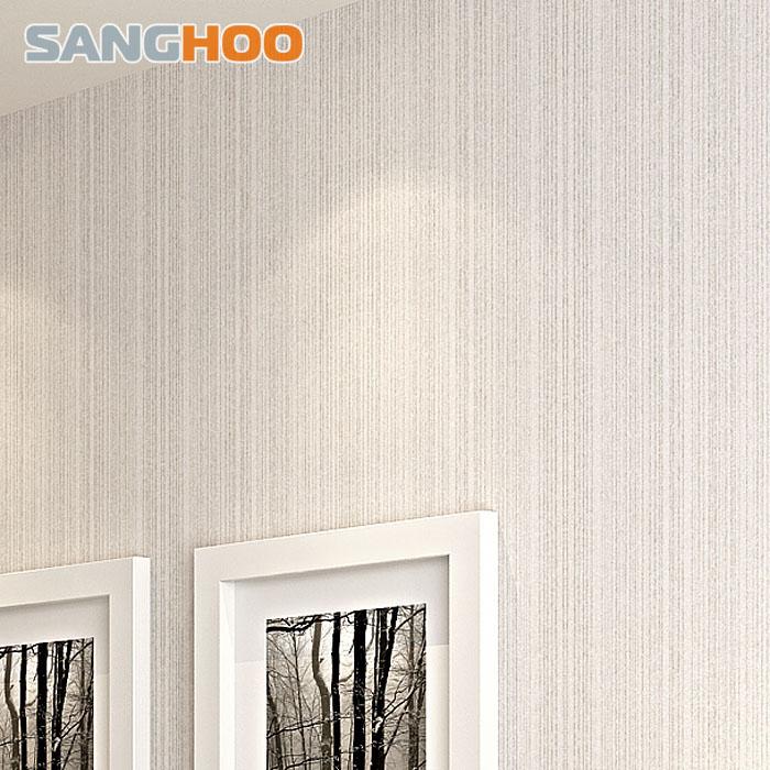 三合简约素色竖条纹植绒墙纸7072