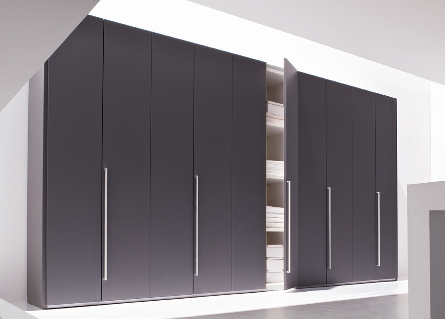 现代简约卧室四门六门衣柜整体组合平开门大衣橱组合家具板式衣柜