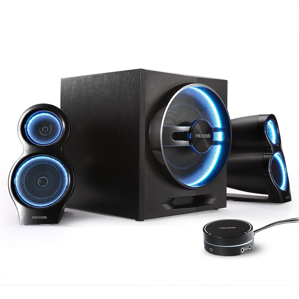 Microlab-麦博 T10 台式电脑音响家用客厅低音炮超重低音笔记本多媒体影响有源无线蓝牙2.1游戏音箱