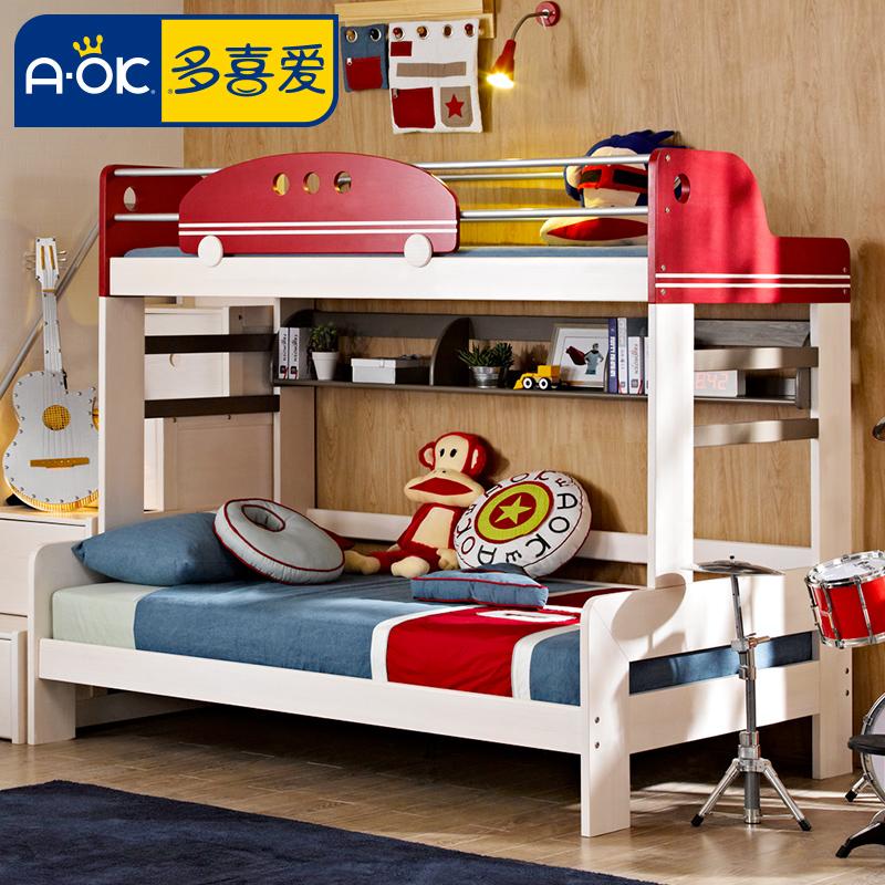 多喜爱儿童实木高低床DA102-33