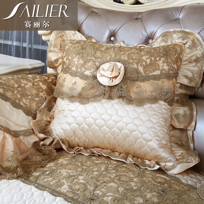 赛丽尔欧式奢华蕾丝沙发靠垫SD785