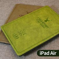 ibao苹果ipadair2保护套超薄air皮套休眠全包边ipad56保护壳复古
