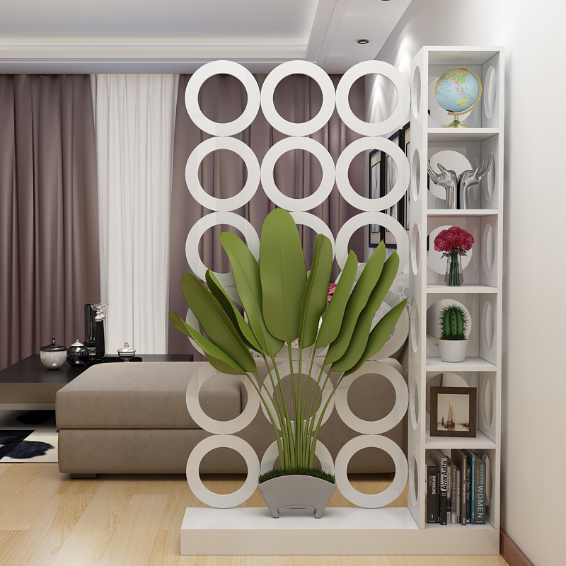 Modern Minimalist Living Room Furniture Screen Hollowing Screen Partition  Shelf Racks Fashion Entrance Screen Partition Cabinet