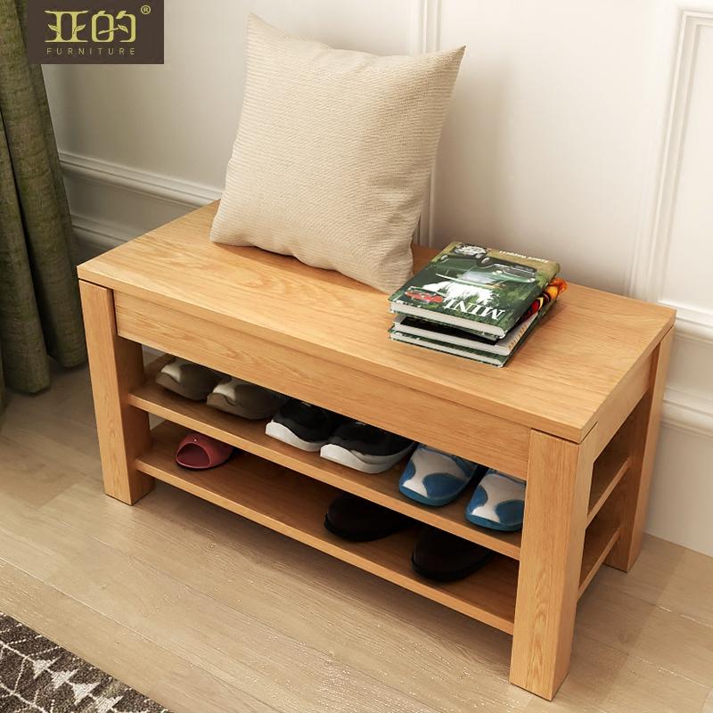 亚的纯实木白蜡木储物柜Y21