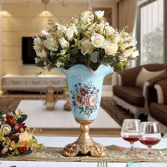 欧式复古田园树脂小花瓶花插客厅装饰摆件工艺品奢华