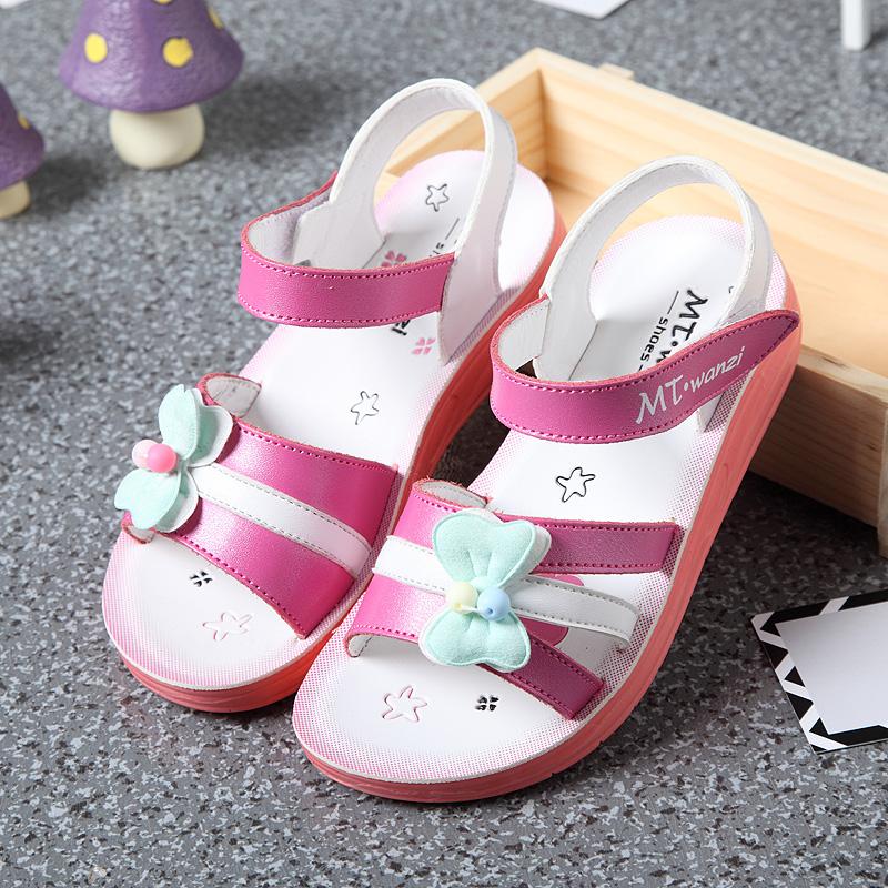 女童凉鞋真皮软底公主鞋学生鞋子