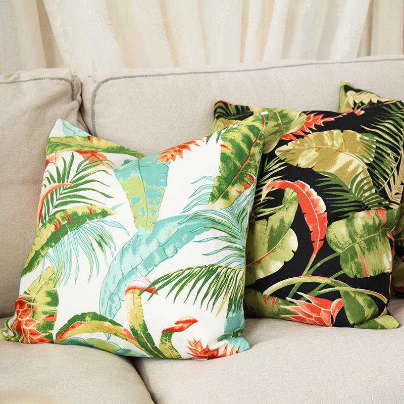 吉屋丛林美式乡村热带植物枕套JW04H0092