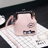 2017春夏新款女包包日韩迷你水桶包小包可爱刺绣猫咪手提包斜挎包