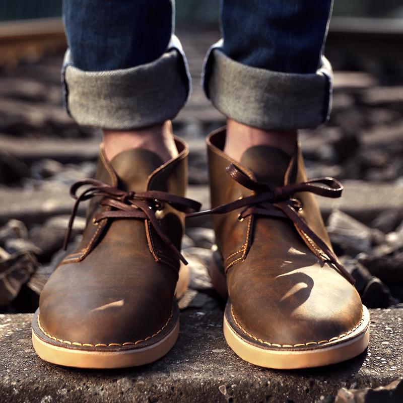 Maden 马登 男士(可选加绒)真皮沙漠靴 MD1601023