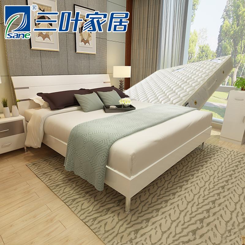 三叶家私烤漆板式高箱床ch0209