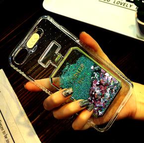 苹果手机女款流沙硅胶防摔壳