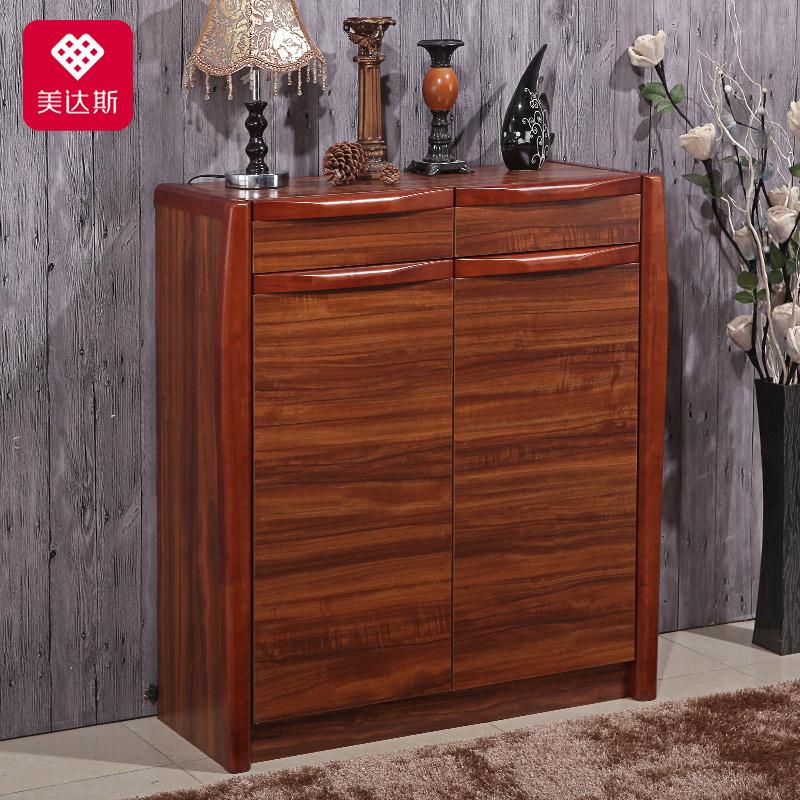 美达斯实木中式烤漆储物柜12982
