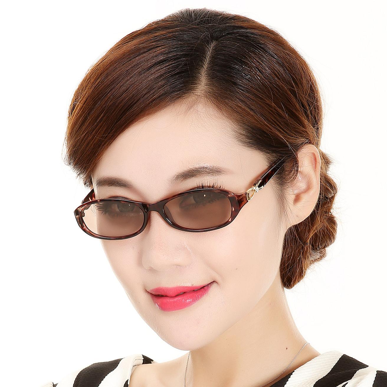 水晶眼镜女士人造水晶石太阳镜中老年妈妈遮阳墨镜清凉石头镜小脸