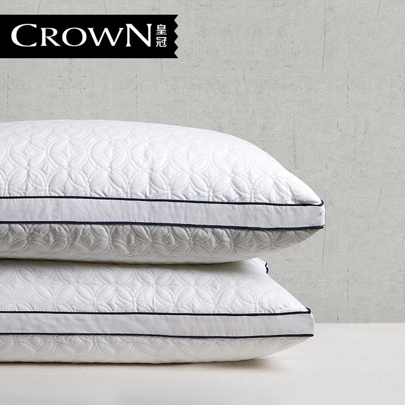 皇冠全棉水洗羽丝绒枕芯14101501