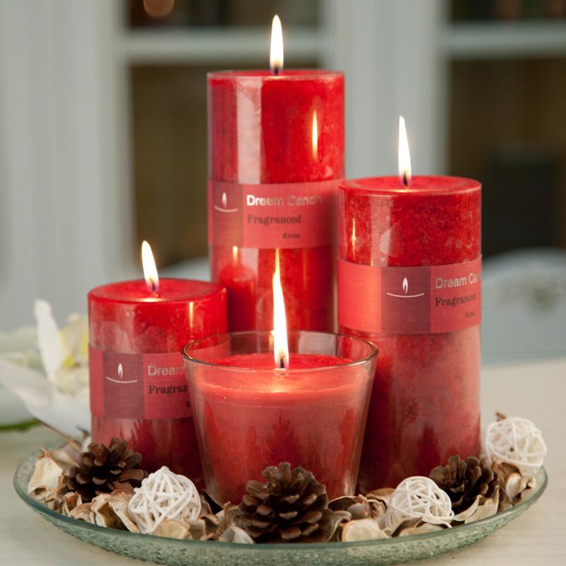 珀尔俪玫瑰蜡烛香薰蜡烛