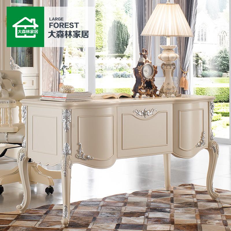 大森林家具欧式书桌白色电脑桌A841