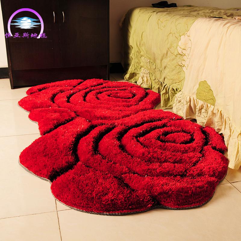 恒亚斯3d双玫瑰花形现代简约茶几床边
