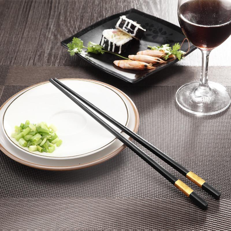 家用筷子酒店专用合金筷10双