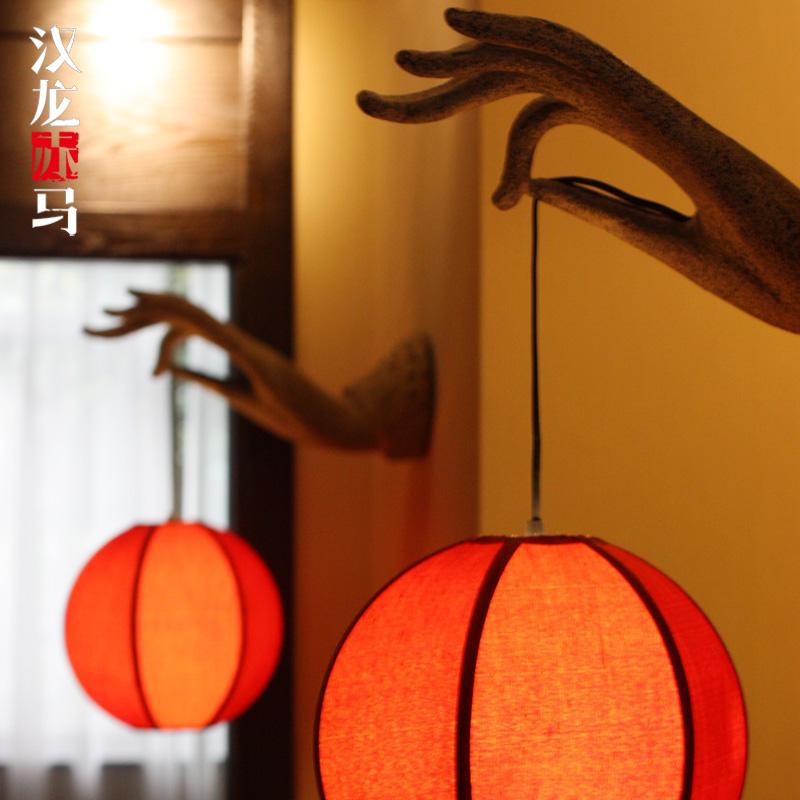 汉龙赤马新中式壁灯D-027