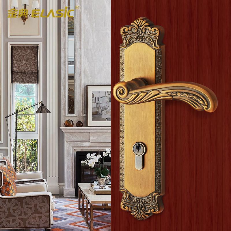 金典室内门锁欧式复古实木门D9883J-ACY