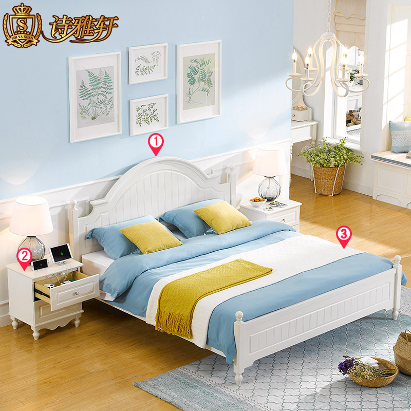 诗雅轩家具成套家具06床+床头柜+床垫