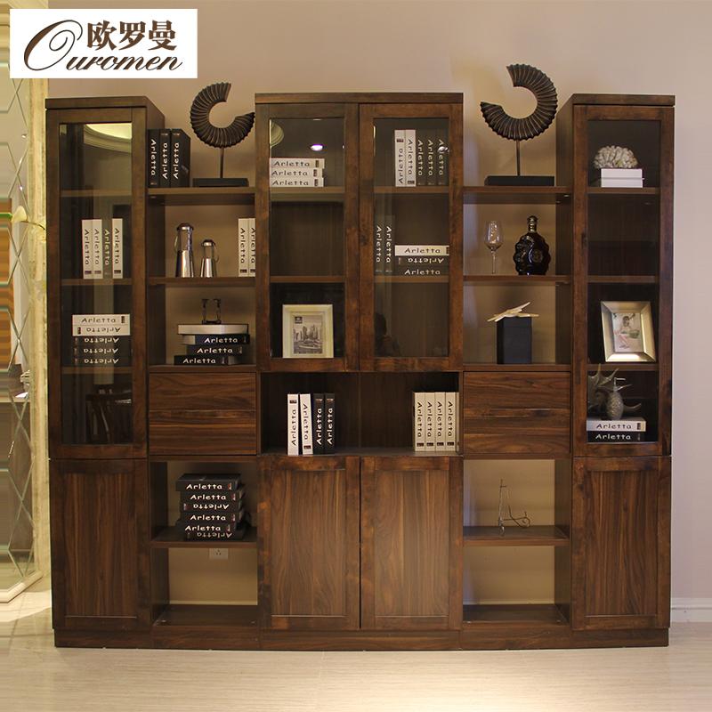 欧罗曼中式现代书柜S9101