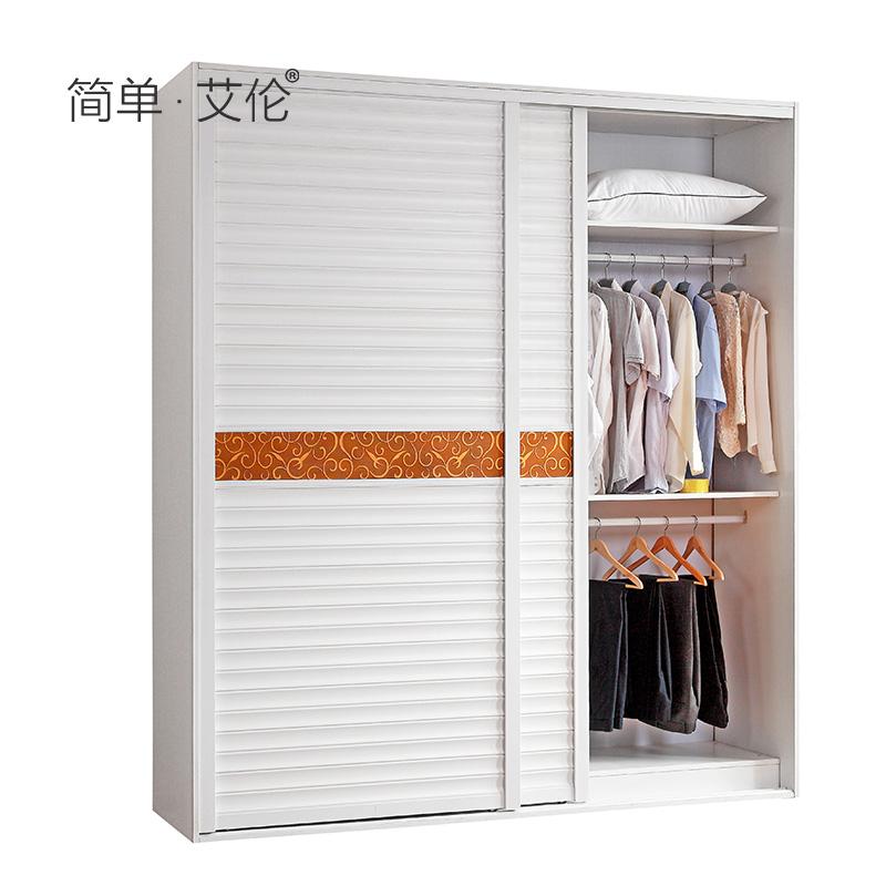 简单·艾伦移门衣柜生态板家具yg001