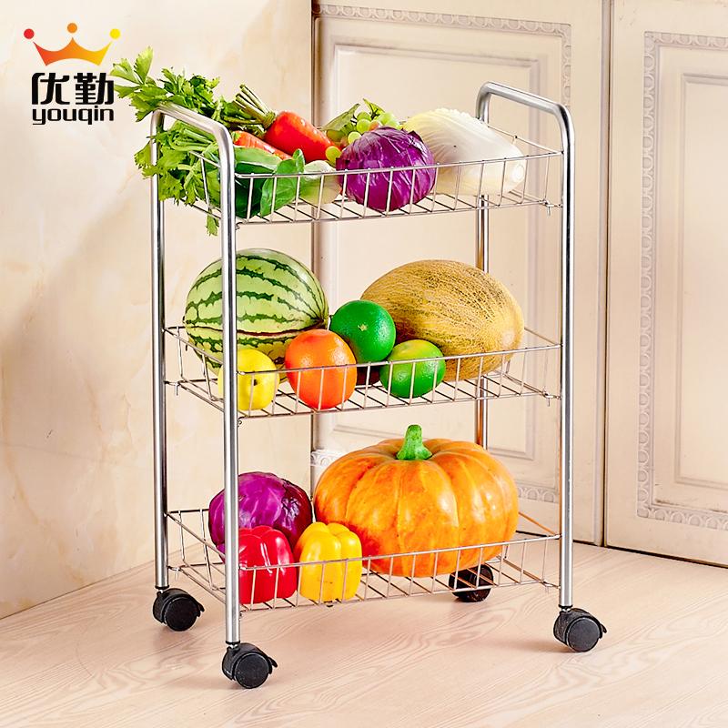 优勤置物架不锈钢蔬菜架