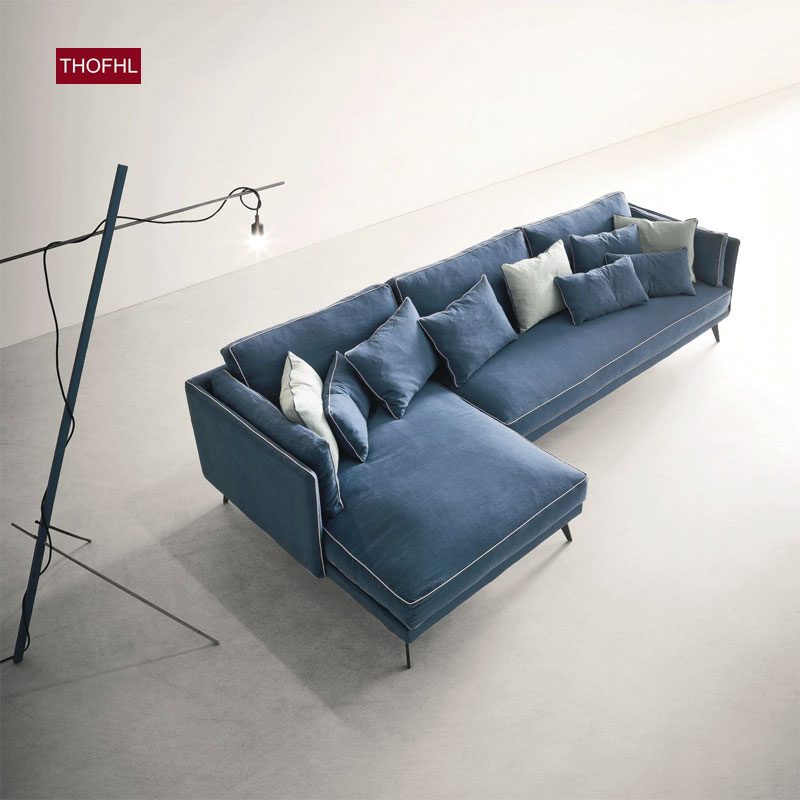 千健 设计师沙发 布艺沙发 北欧现代简约客厅乳胶沙发 沙发组合