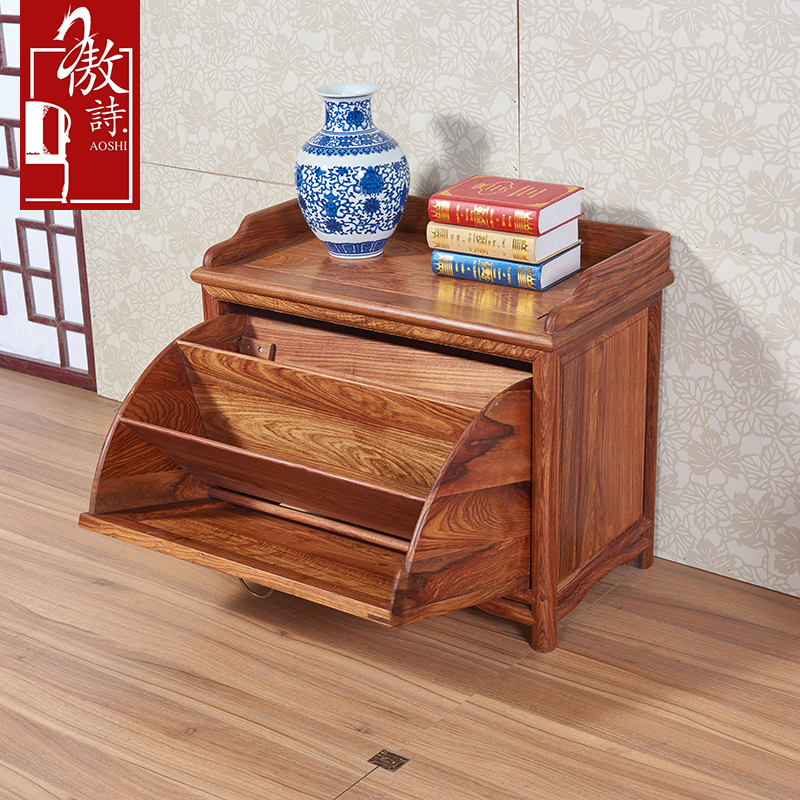 傲诗中式实木鞋柜x32