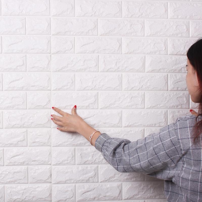 小薇3d立体装饰贴纸立体砖纹