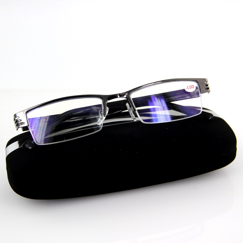 蓝膜防辐射成品近视眼镜男电脑护目镜上网专用保护眼睛旅游备用