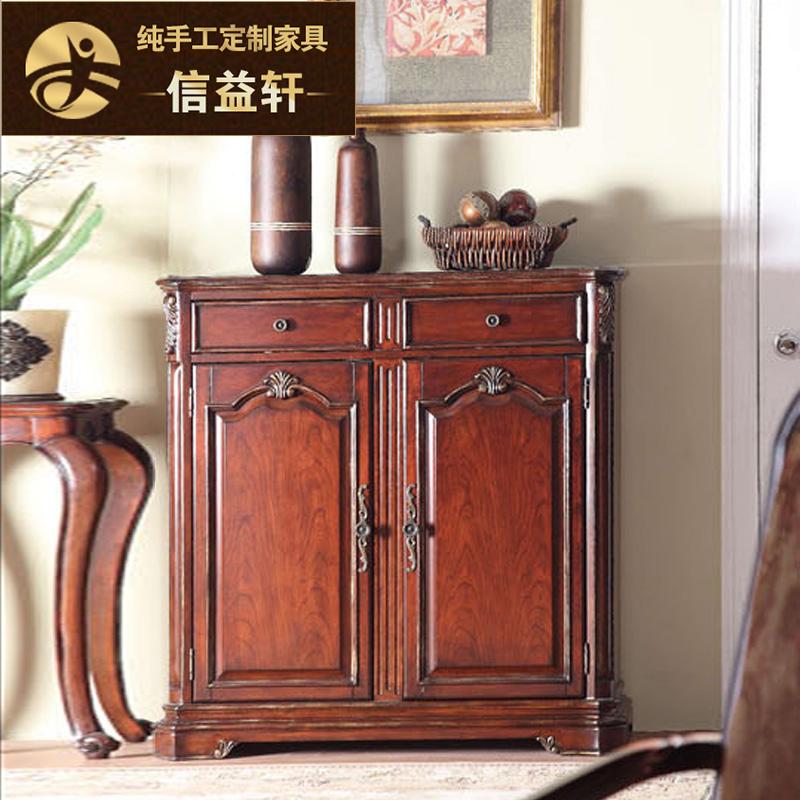 信益轩美式实木复古双门柜子XG-091