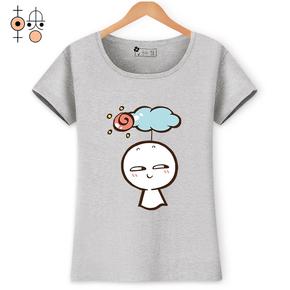 2017新款韩版印花纯棉短袖T恤