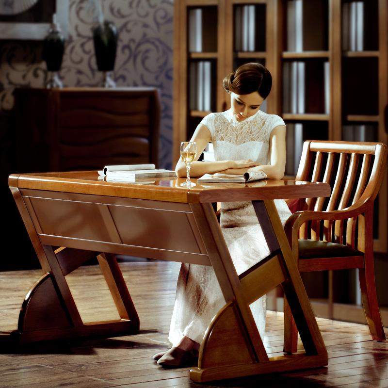 心居名家实木书桌[XJMJ]K302白蜡书桌台