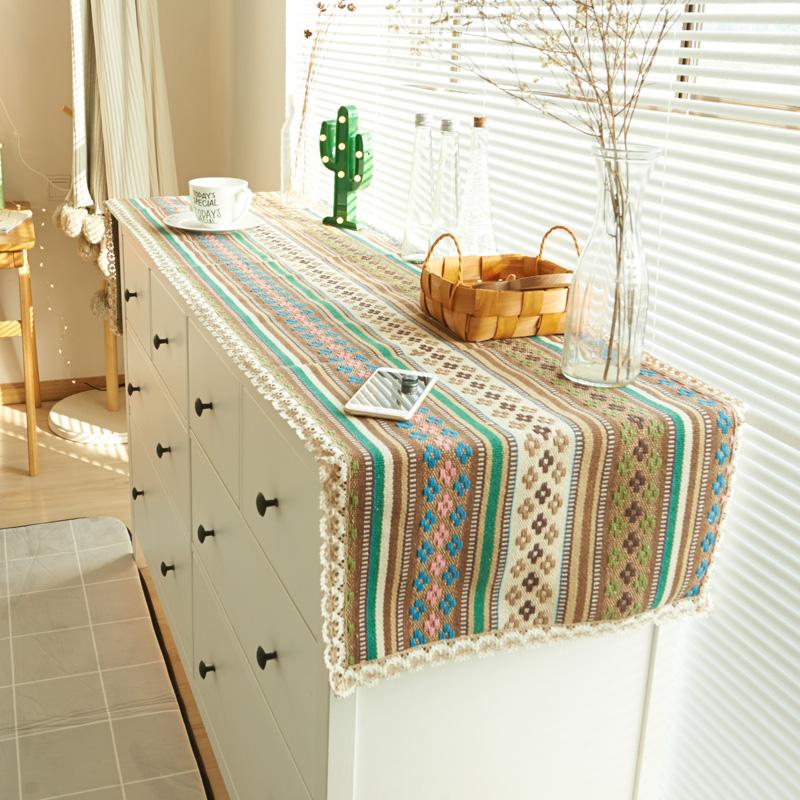 珍珠松民族编织衣柜盖巾1
