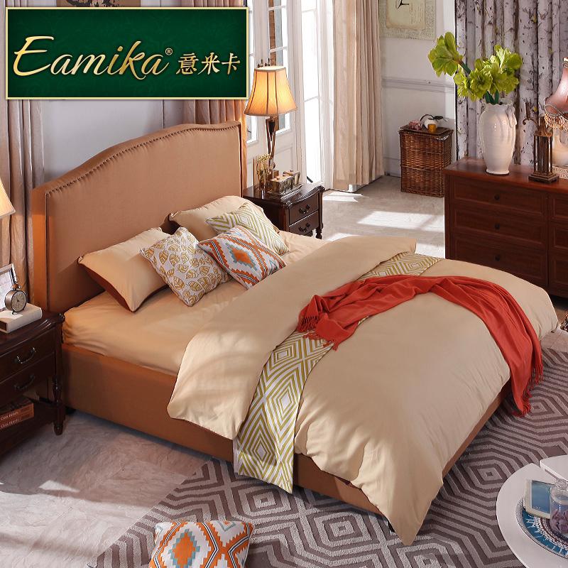 意米卡美式双人床ef003
